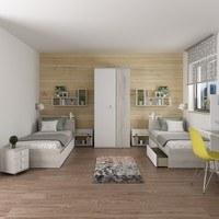 Noční stolek EMMET pinie cascina/bílá 2