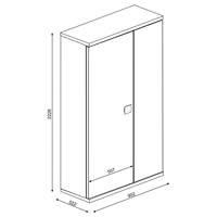 Šatní skříň EMMET pinie cascina/bílá 5