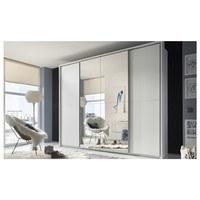 Šatníková skriňa s TV kútikom ENIMA biela/zrkadlo 2