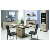 Jedálenský stôl ENIS DS10 brest/čierna 2