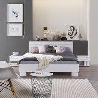 Noční stolek ESME bílá, set 2 ks 2