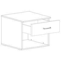 Noční stolek ESME bílá, set 2 ks 3