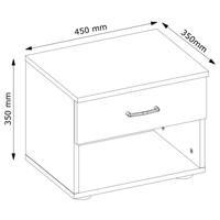 Noční stolek ESME bílá, set 2 ks 4