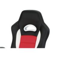 Kancelářská židle  ESTER červená/černá 4