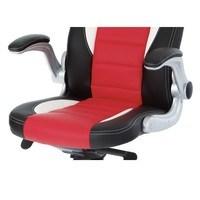 Kancelářská židle  ESTER červená/černá 5