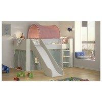Zvýšená postel se schůdky  FOR KIDS 613 bílá, 90x200 cm 5