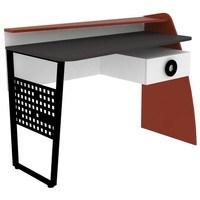 Písací stôl  FORSAGE červená/biela/čierna 1