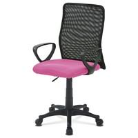 Kancelářská židle FRESH růžová/černá 1