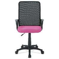 Kancelářská židle FRESH růžová/černá 2