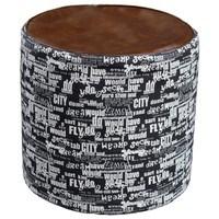 Taburet FREY čierna s bielymi nápismi 1