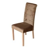 Jídelní židle FUCHSIA hnědá/dub 1