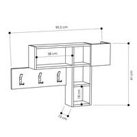 Predsieňový panel GAME dub sonoma/antracitová 3