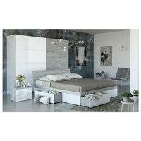 Postel GAVERA bílá/beton, 180x200 cm 2
