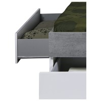 Postel GAVERA bílá/beton, 180x200 cm 5