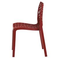 Jedálenská stolička GENESIS červená 2