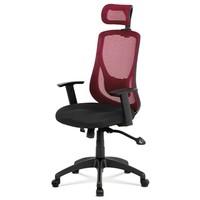 Kancelárska stolička GEORGE červená/čierna 1
