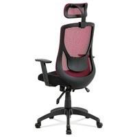 Kancelárska stolička GEORGE červená/čierna 4