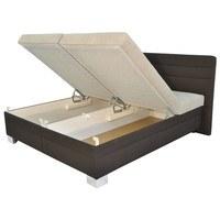 Polohovací postel GLORIA hnědá/béžová, 180x200 cm 4