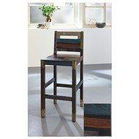 Barová stolička GOA mangovník/akácia/kovová aplikácia 2