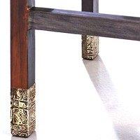Barová stolička GOA mangovník/akácia/kovová aplikácia 4