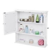 Koupelnová skříň se zrcadlem GORDES bílá 3