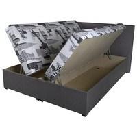Postel HEDVIKA šedá/vícebarevná, 160x200 cm 2