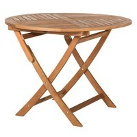 Kulatý skládací stolek HOLSTEIN eukalyptus 1