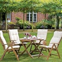 Kulatý skládací stolek HOLSTEIN eukalyptus 5