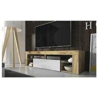 TV stolek HUGO 160 dub wotan/bílá 2