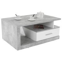 Konferenční stolek IGUAN beton/bílá 1