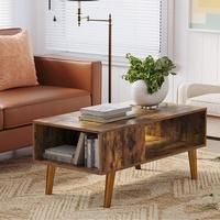 Konferenční stolek IMATRA černá/hnědá 2