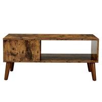 Konferenční stolek IMATRA černá/hnědá 5