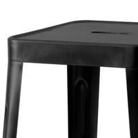 Barová stolička IRON čierna/železo 3