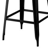 Barová stolička IRON čierna/železo 4