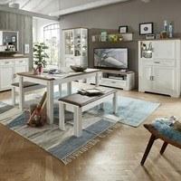Jídelní stůl JASMIN pinie světlá/dub artisan 2