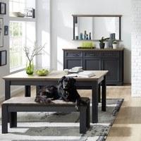 Jídelní stůl JASMIN grafit/dub artisan 2
