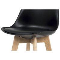 Barová stolička JULIETTE čierna/buk 2