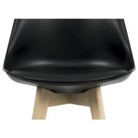 Barová židle JULIETTE černá/buk 4
