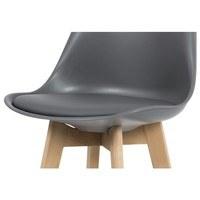 Barová židle JULIETTE šedá/buk 7