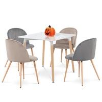 Jedálenská stolička KAISA dub/sivá 2