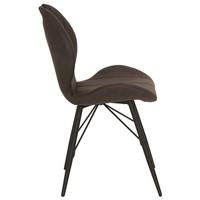 Jedálenská stolička KATE S antracitová 4