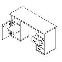 Písací stôl KUBA biela 2