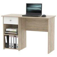 Písací stôl  KURT dub sonoma/biela 1