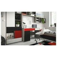 Písací stôl LASER červená/sivá 2
