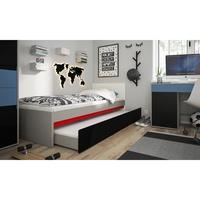 Úložný prostor pod postel LASER šedá/černá 2