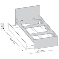 Úložný prostor pod postel LASER šedá/černá 4