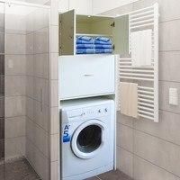 Skříň nad pračku LAVANDE bílá 2