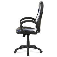 Kancelářská židle LAWRENCE modrá/černá/bílá 4