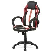 Kancelářská židle LAWRENCE červená/černá/bílá 1