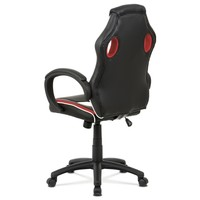 Kancelářská židle LAWRENCE červená/černá/bílá 4